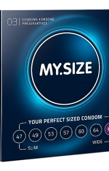 My Size - Natural Latex Condom 69 Width 3 pcs