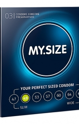 My Size - Natural Latex Condom 49 Width 3 pcs