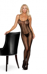 Bodystocking Black Floral