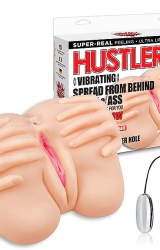 Hustler - Vibrating Spread From Behind Pussy & Ass