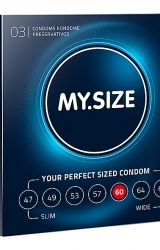 My Size - Natural Latex Condom 60 Width 3 pcs