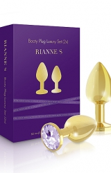 Rianne S - Booty Plug Luxury Set 2x Gold