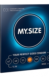 My Size - Natural Latex Condom 57 Width 3 pcs
