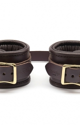 Coco de Mer - Leather Wrist Cuffs L/XL Brown