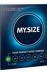 My Size - Natural Latex Condom 47 Width 3 pcs