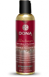 Dona - Kissable Massage Oil Strawberry Soufflé 125