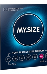 My Size - Natural Latex Condom 64 Width 3 pcs